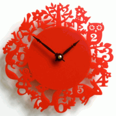 Laser Cut Acrylic Wall Clock Design Free CDR Vectors Art