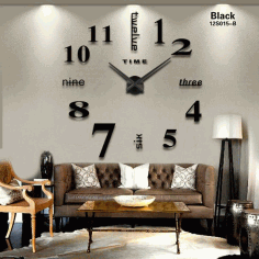 Laser Cut Contemporary Living Room Wall Clock Free CDR Vectors Art