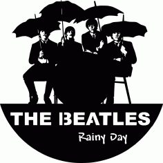 Laser Cut Epic Beatles Vinyl Wall Clocks Template Free CDR Vectors Art