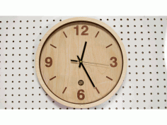 Wooden Clock Renewal Laser Cut Free DXF File