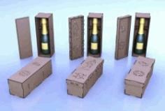 Cnc Laser Cut Wooden Case Wine Bottles Free CDR Vectors Art