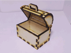 Laser Cut Toy Treasure Chest Free CDR Vectors Art