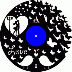 Laser Cut Gotov Love Template Clock Free CDR Vectors Art