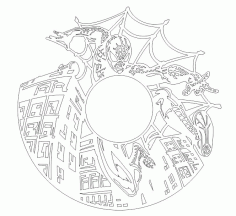 Laser Cut Spider Man Vinyl Wall Clock Templates Free CDR Vectors Art
