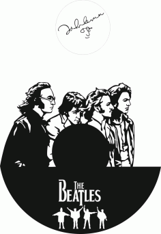 Laser Cut The Beatles Clock Templates Free CDR Vectors Art