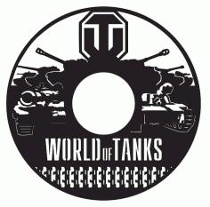 Laser Cut World Of Tanks Vinyl Wall Clock Templates Free CDR Vectors Art