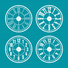 Printable Clock Faces Free DXF File