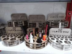 Laser Cut Cosmetics Organizer Makeup Organizers Makeup Storage Free CDR Vectors Art