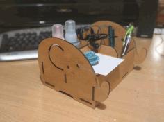 Laser Cut Elephant Shape Desk Organizer Free CDR Vectors Art
