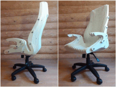 Wooden Parametric Chair Cnc Free DXF File