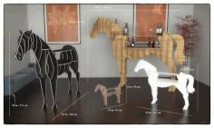 Laser Cut Horse Table Plan Free CDR Vectors Art