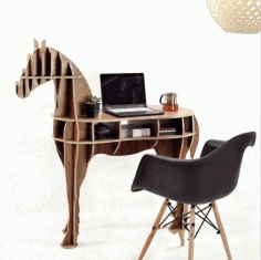 Laser Cut Wooden Horse Table Plan Free CDR Vectors Art