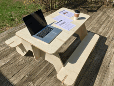 Laser Cut Flat Pack Picnic Table Free DXF File