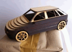 Cnc Laser Cut Wooden Car Model A Free CDR Vectors Art