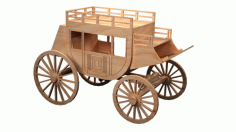 Cnc Laser Cut Wooden Coach Free CDR Vectors Art