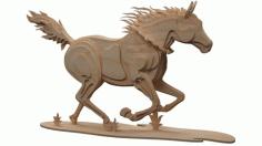 Cnc Laser Cut Wooden Horse Free CDR Vectors Art