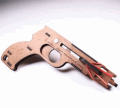 Cnc Laser Cut Wooden Jenga Pistol Download Free CDR Vectors Art