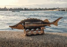 Laser Cut Fish Wood Working Project Free CDR Vectors Art