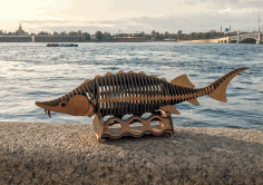 Laser Cut Fish Wood Working Project Free DXF File