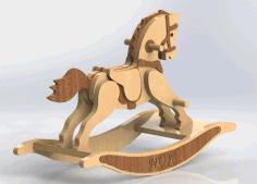 Wood Rocking Horse Free DXF File