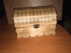 Laser Cut Wooden Chest Template Free CDR Vectors Art
