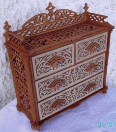 Laser Cut Wooden Dresser Chest Of Drawers Free CDR Vectors Art