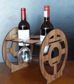 Cnc Laser Cut Wine Holder Free CDR Vectors Art