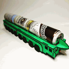 Laser Cut Beer Can Holder Ballistic Missile rt-2pm2 topol-m Shaped Free CDR Vectors Art
