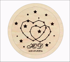 Laser Cut Personalized Wedding Ring Holder Wedding Ring Pillow Alternative Free CDR Vectors Art