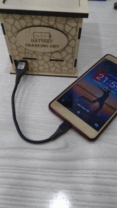 Napkin Holder Mobile Charging Center Free DXF File