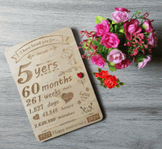 Laser Engraved Anniversary Wall Art Free CDR Vectors Art