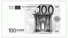 Laser Engraving 100 Euro Note Free CDR Vectors Art