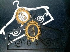 Laser Cut Decorative Hanger Free CDR Vectors Art