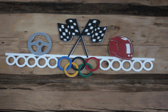 Car Racing Sports Medal Hanger Display Free CDR Vectors Art