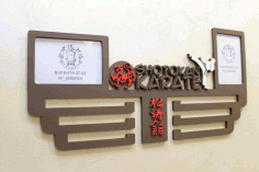 Laser Cut Shotokan Karate Medal Display Hanger Free CDR Vectors Art