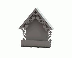 Laser Cut Wooden Key Hanger With Arch Shelf Free CDR Vectors Art