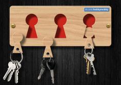 Beautiful Housekeeper Key Hanger Free DXF File