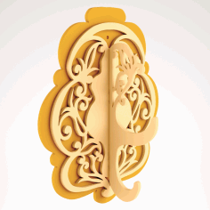 Laser Cut Decoration Unique Wall Hanger Free DXF File