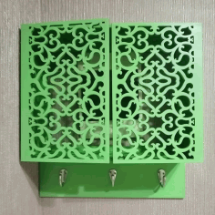 Laser Cut wall-mounted Key Cabinet Free DXF File