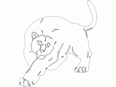 Animal Mascot Big Cat Free DXF File