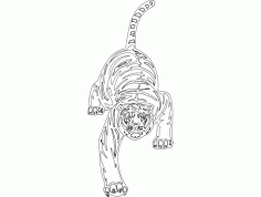 Cheetah Animal Mascot Free DXF File