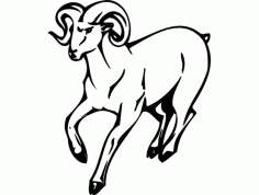 Ram Mascot Action Sports Decal Animal Free DXF File