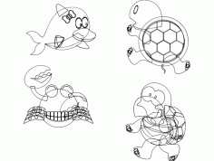 Sea Turtle Free DXF File