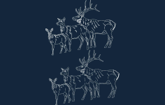 Animals Deer 2.41 Free DXF File