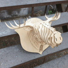 Elk Head Trophy Free DXF File
