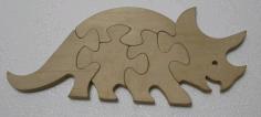 Rhinoceros Jigsaw Puzzletemplate Free DXF File