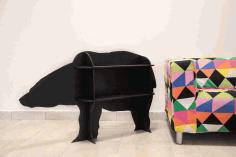 Bear Storage Shelf Rack Cnc Template Free DXF File