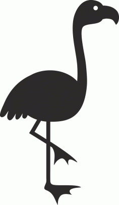 Bird Silhouette Vector Free DXF File
