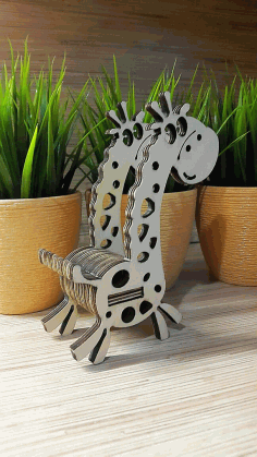 Giraffe Phone Stand Free DXF File