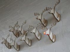 Reindeer Head Free DXF File